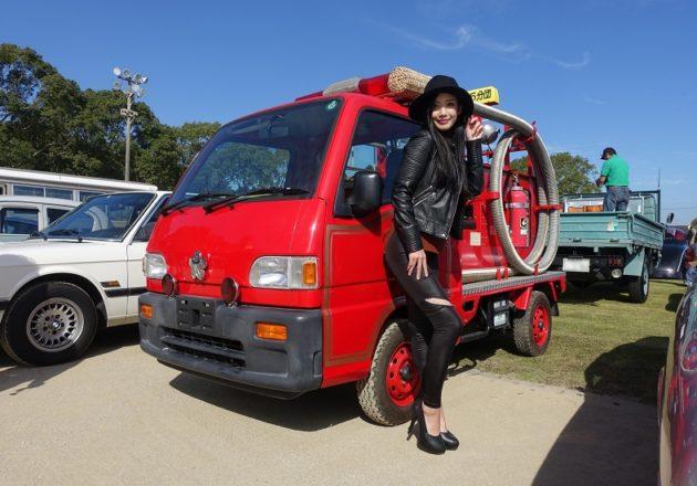 スバルサンバー消防車